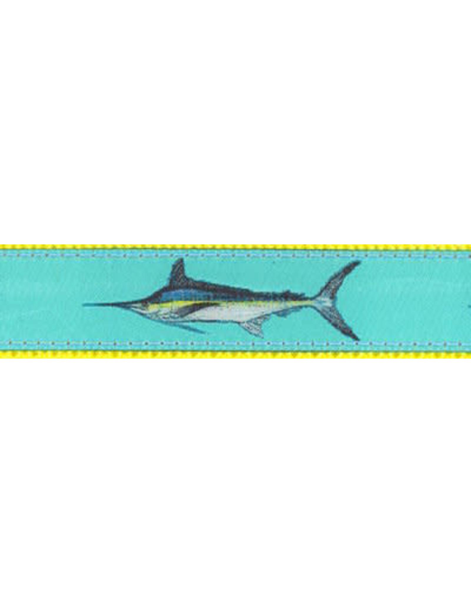 Preston Ribbons Teal Marlin Dog Collar