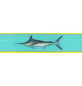 Preston Ribbons Teal Marlin Dog Collar