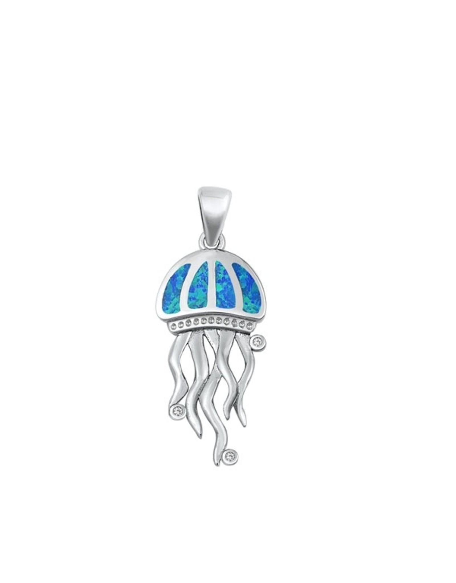 Opal Jellyfish Pendant