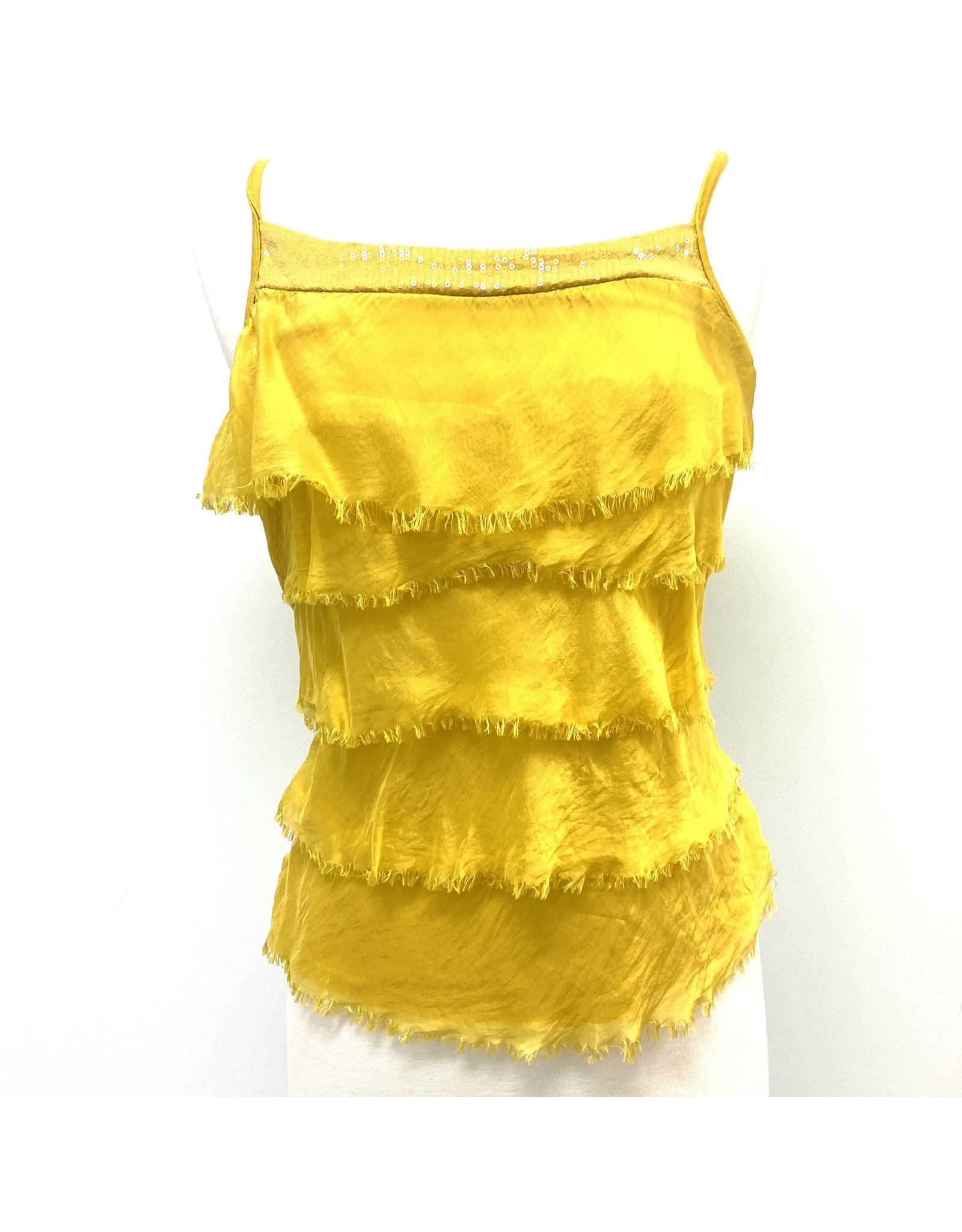 Sunflower Silk Sequin Layer Tank