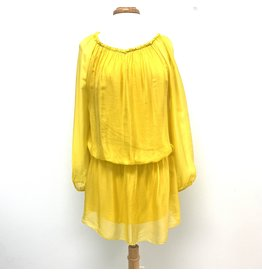 Sunflower Silk Mini Dress