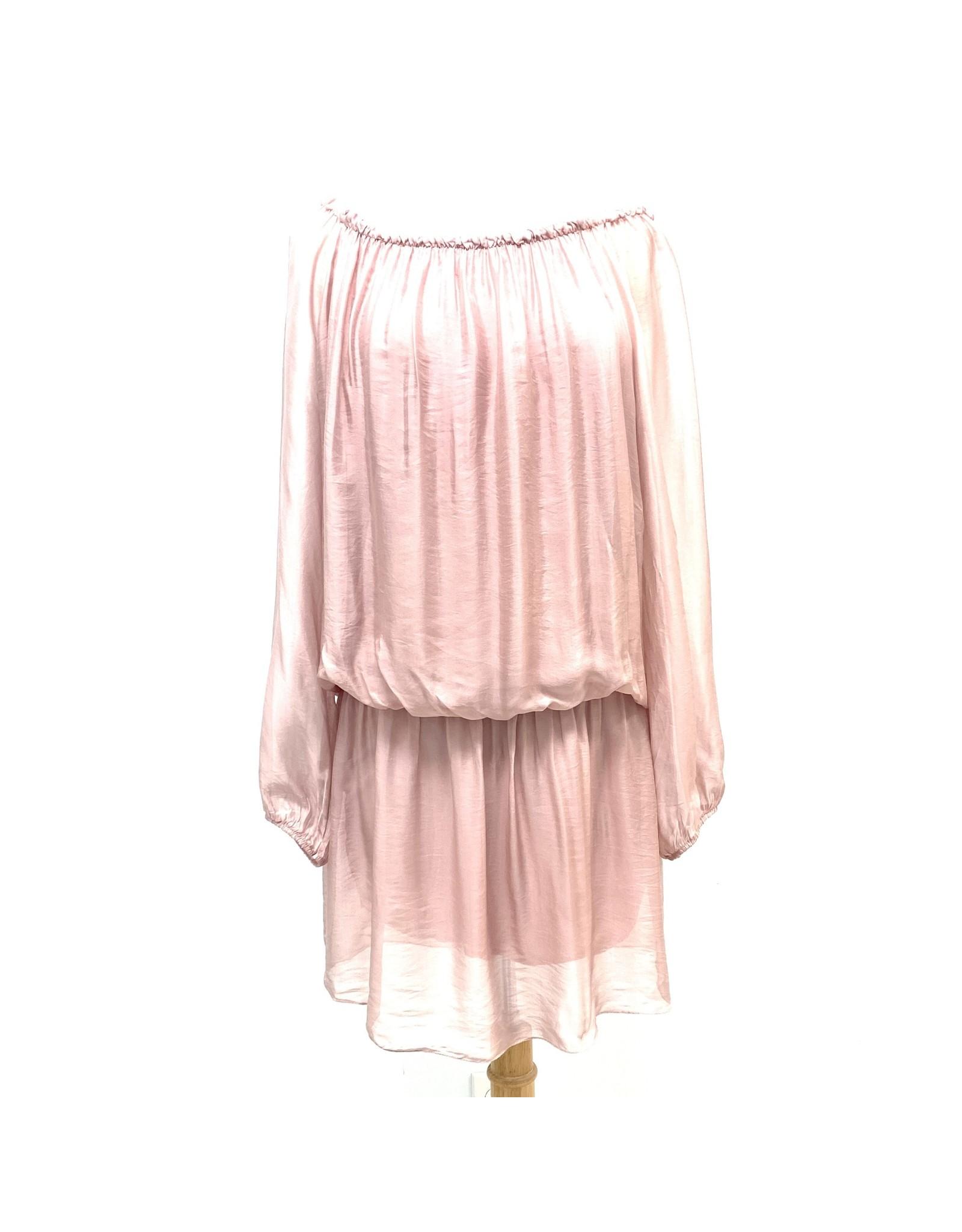 Dusty Rose Silk Mini Dress