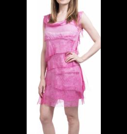 Gigi Moda Hot Pink Flutter Dress