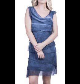 Gigi Moda Washed Denim Flutter Dress