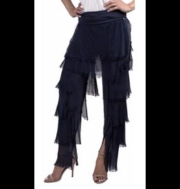 Gigi Moda Navy Silk Flutter Pants