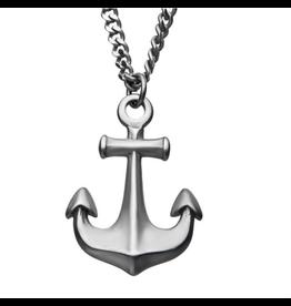Inox SS Antiqued Finish Anchor Pendant