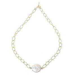 Coin Pearl on GF Diamond Chain