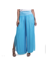 Gigi Moda Turquoise Slit Silk Lined Pants