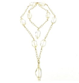 Citrine & GF Diamond Cut Chain