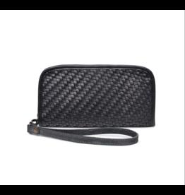 Black Woven Wristlet