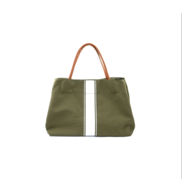 Army Stripe Canvas Tote