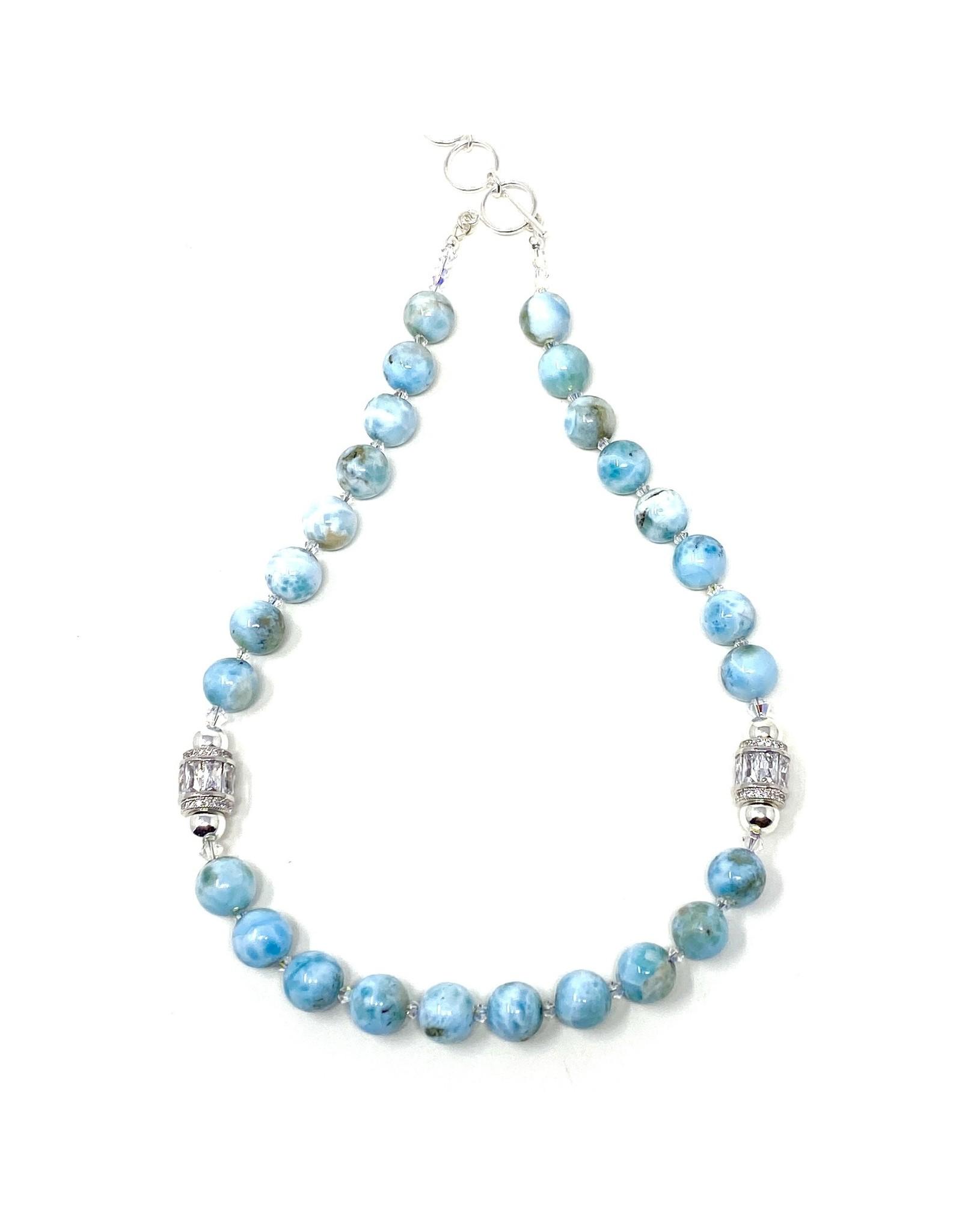 Round Larimar Necklace