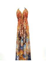Indian Tropical Fashions Orange You Beautiful Handkerchief Dress
