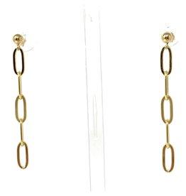 GF Paperclip Chain Stud Earrings