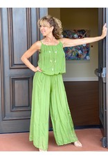 Green Silk Jumpsuit