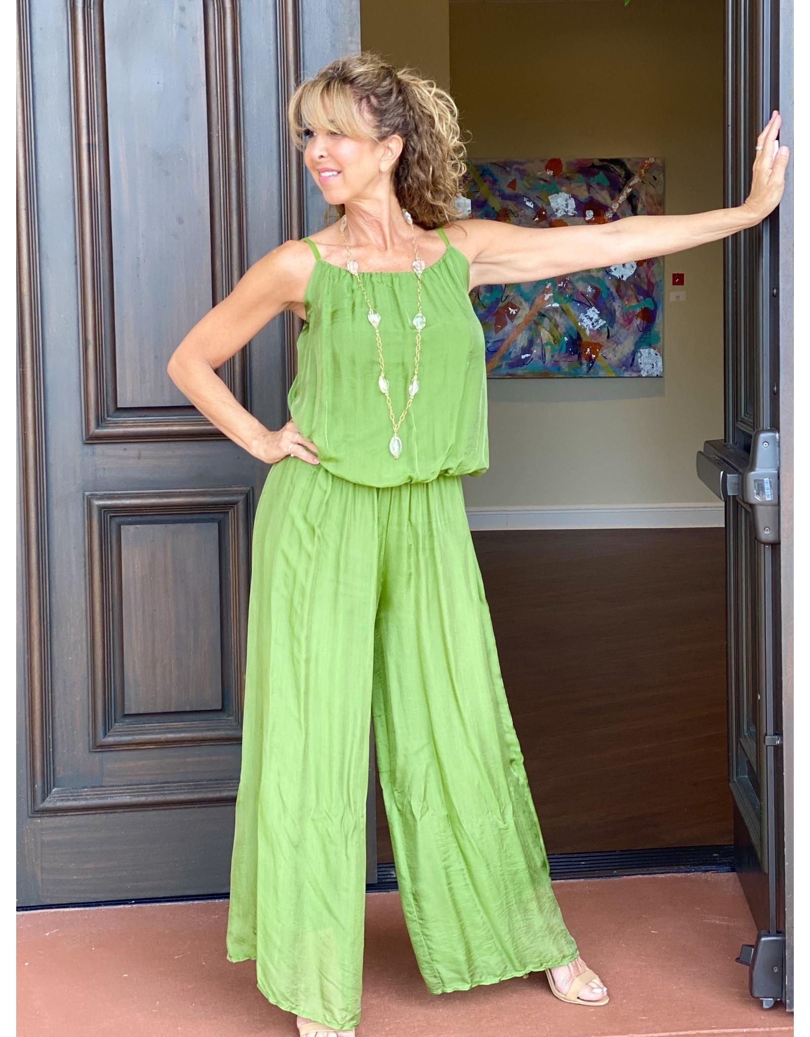 Green Silk Jumpsuit