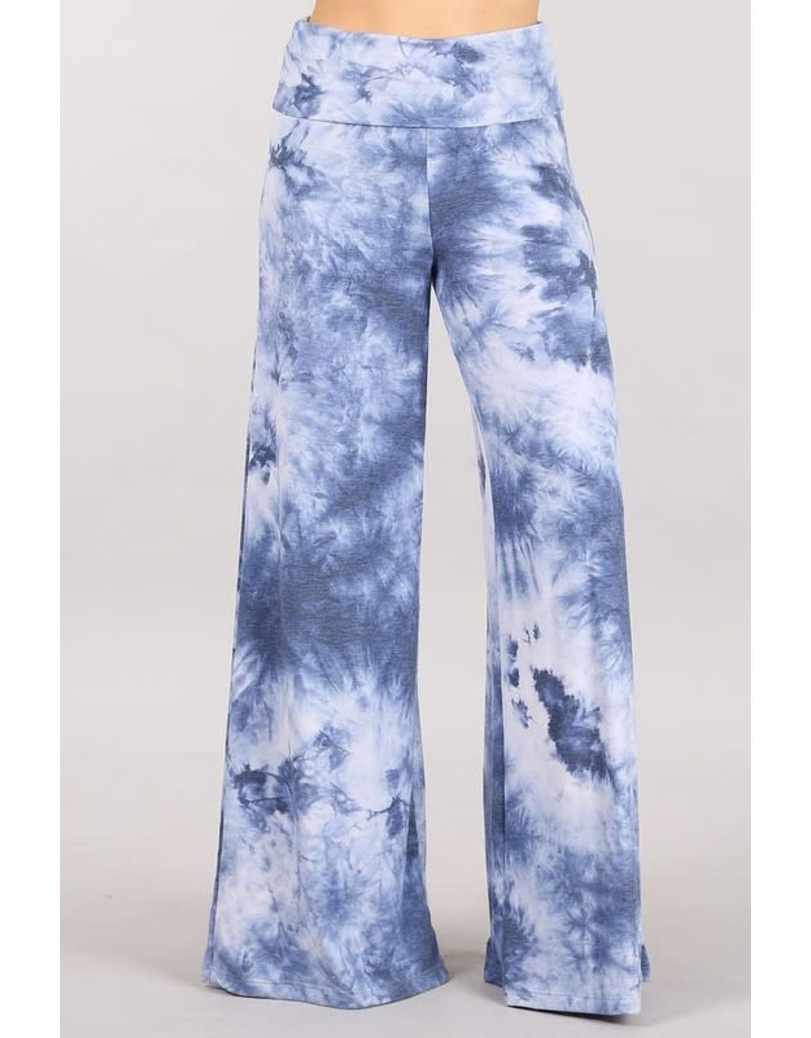 Blue Tie-Dye Palazzos