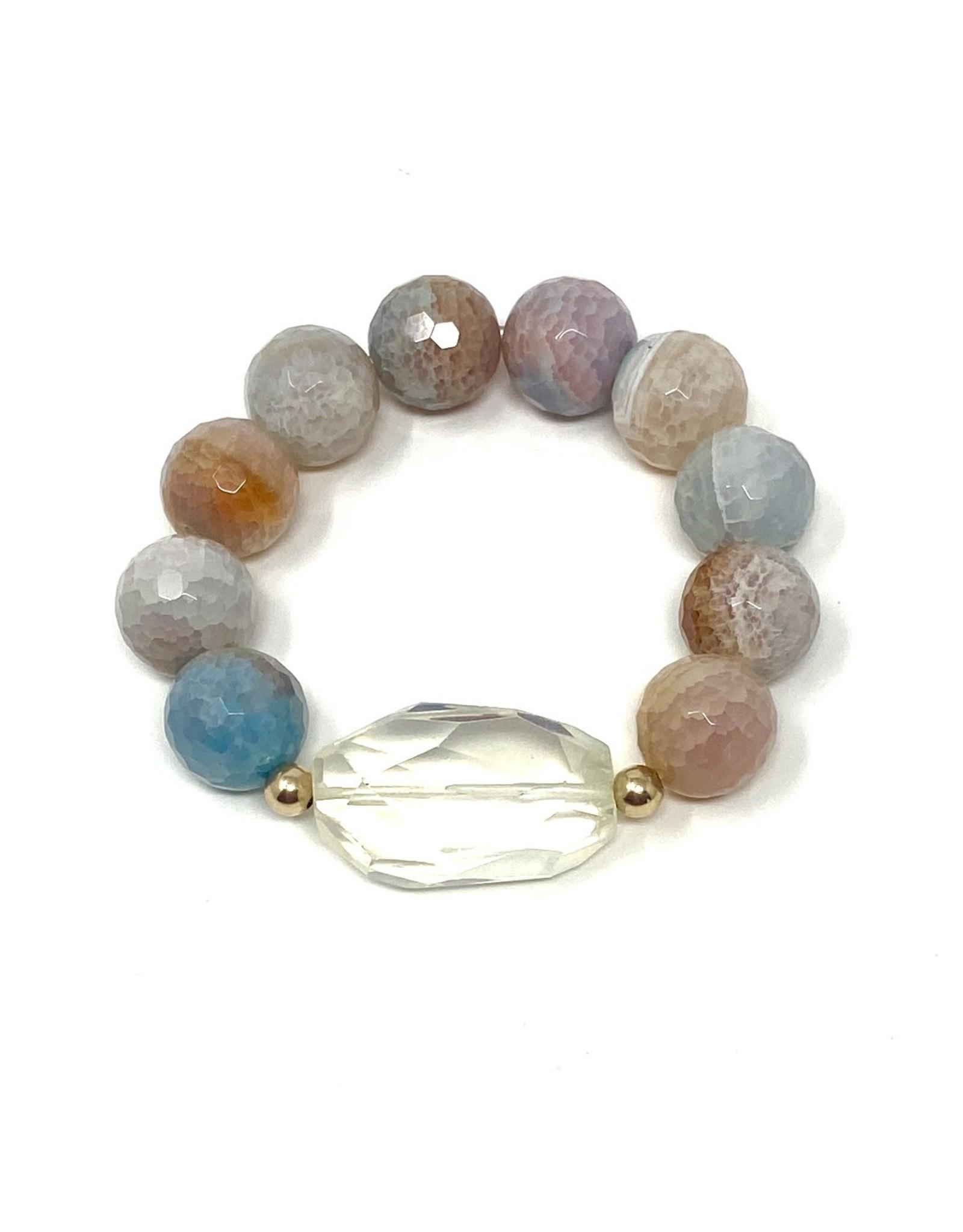 Citrine & Rainbow Agate Bracelet