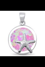 Sonara Jewelry Pink Opal Starfish Pendant
