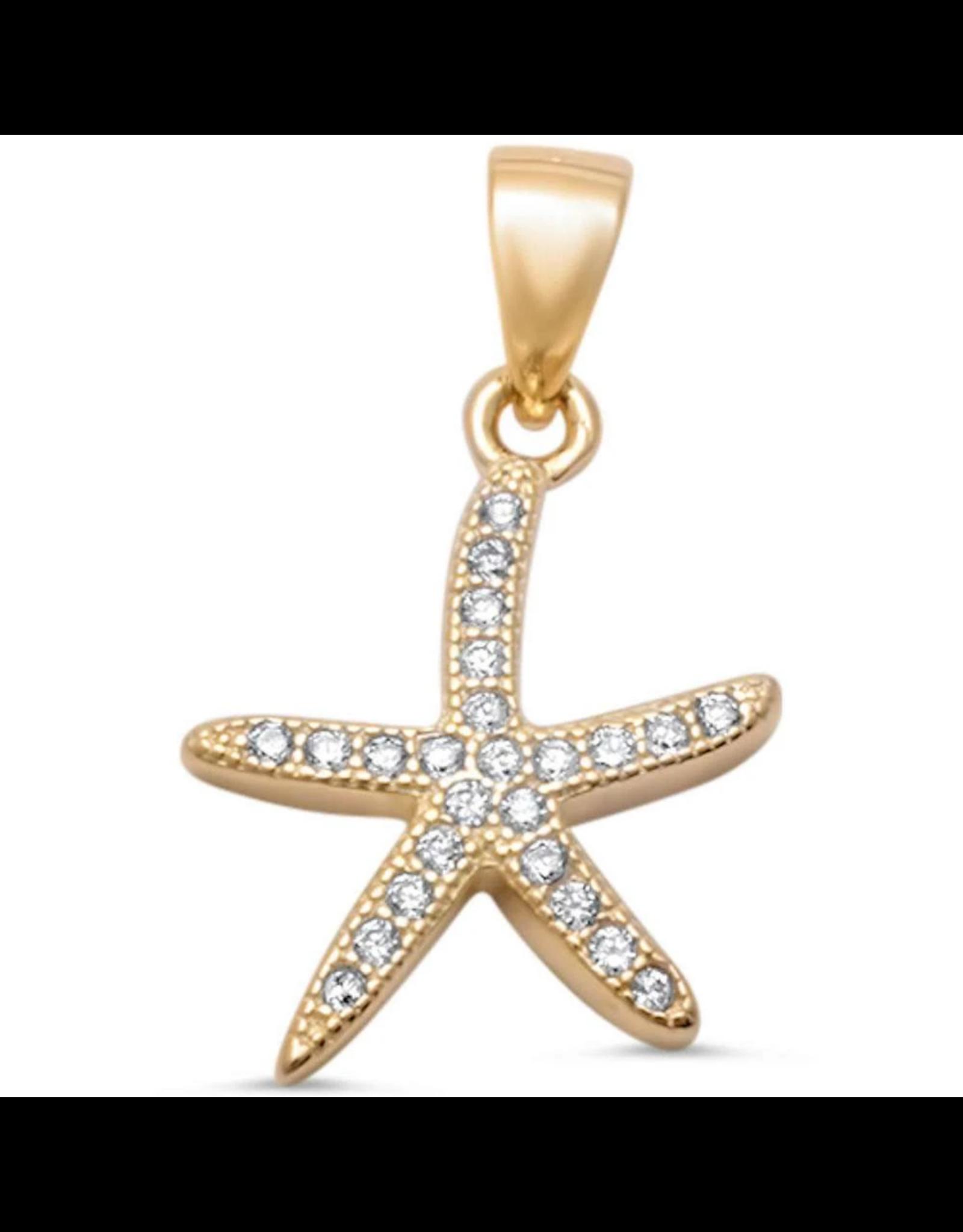 Sonara Jewelry GP CZ Small Starfish