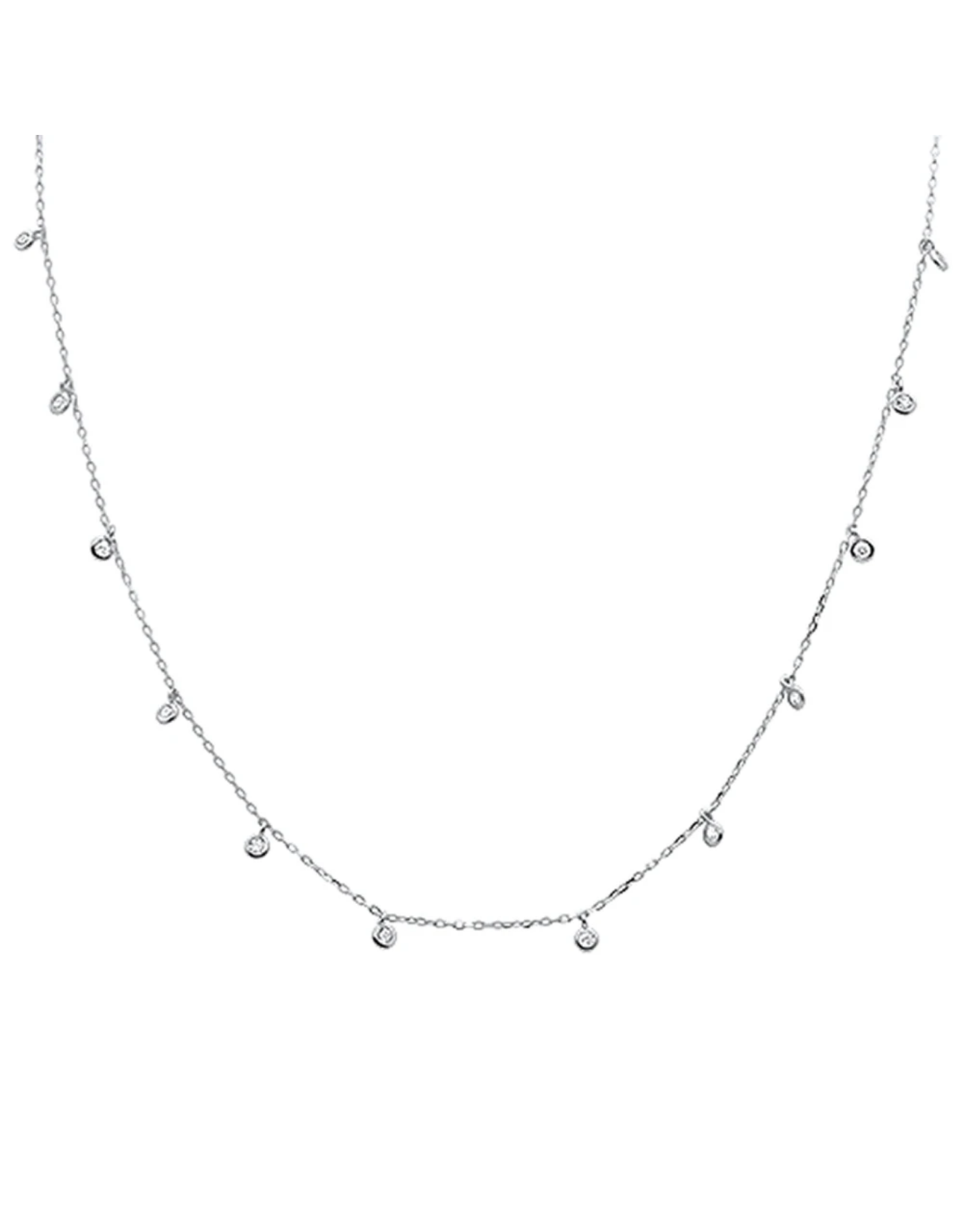 Sonara Jewelry Sterling Multi Bezel CZ Necklace