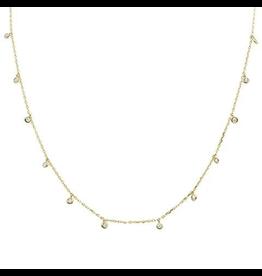 Sonara Jewelry GP Sterling Multi Bezel CZ Necklace