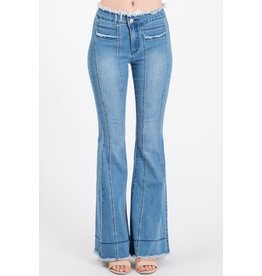 Uniq by Litz Frayed Out Midrise Jeans