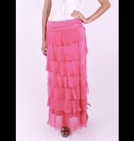 Fuschia Flutter Maxi Skirt