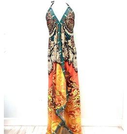 Indian Tropical Fashions Brilliant Jewels Handkerchief Dress