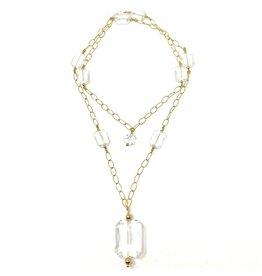 GF Diamond Chain & Crystal Necklace