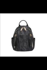 Black Camo Nylon Backpack