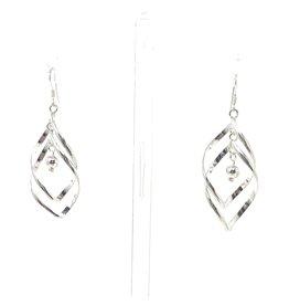 Blanc de Noir Double Twist Ball Drop Fine Silver Earrings