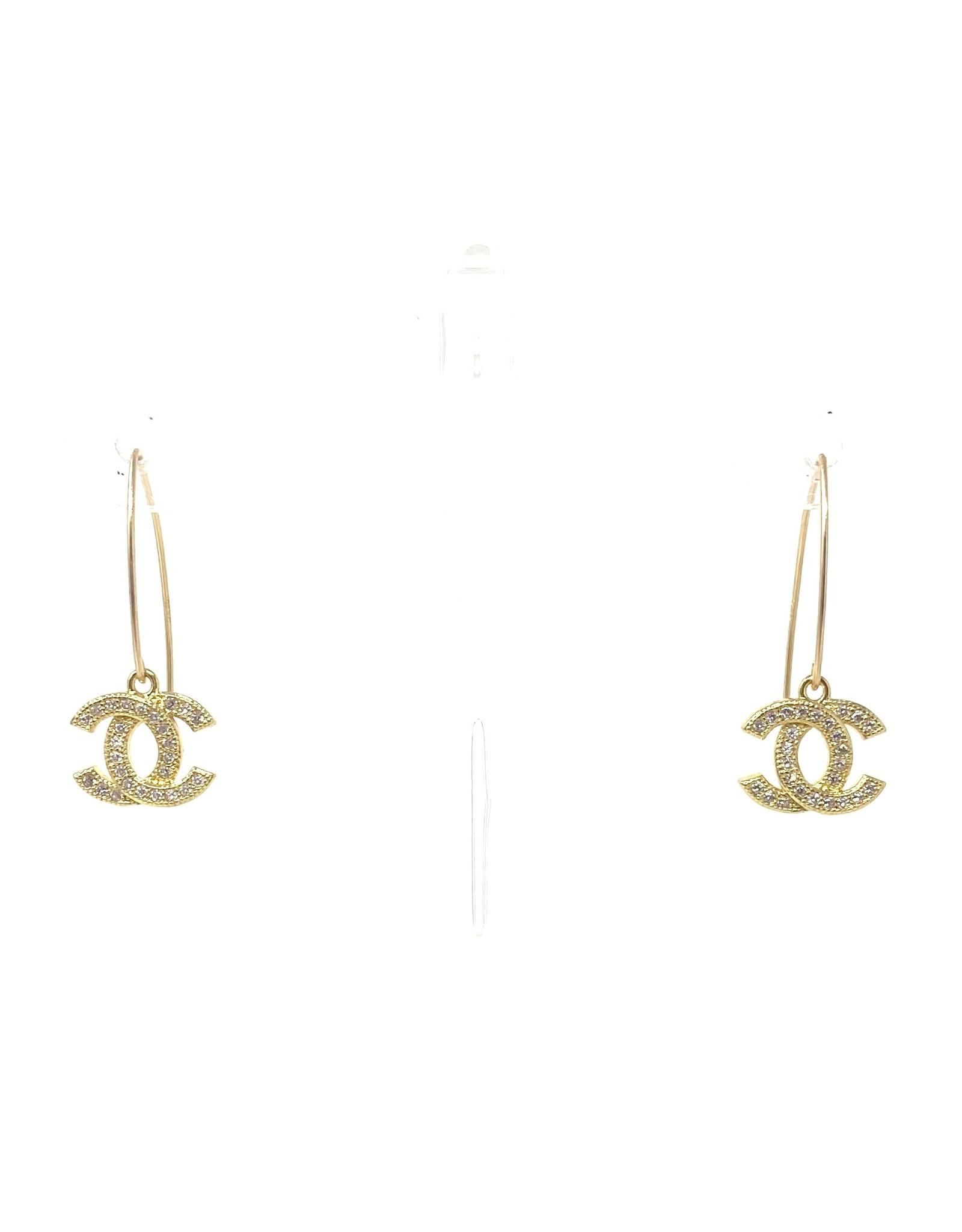 Gold Chanel Earrings