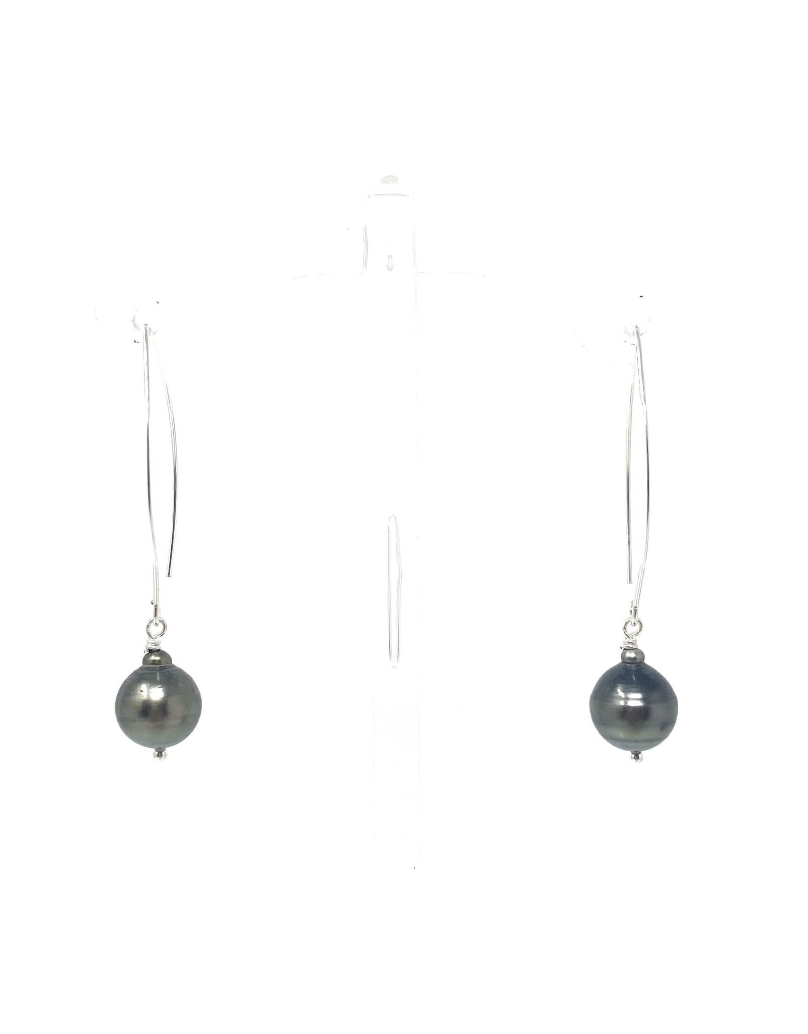 Tahitian Pearl Large Hook Earrings