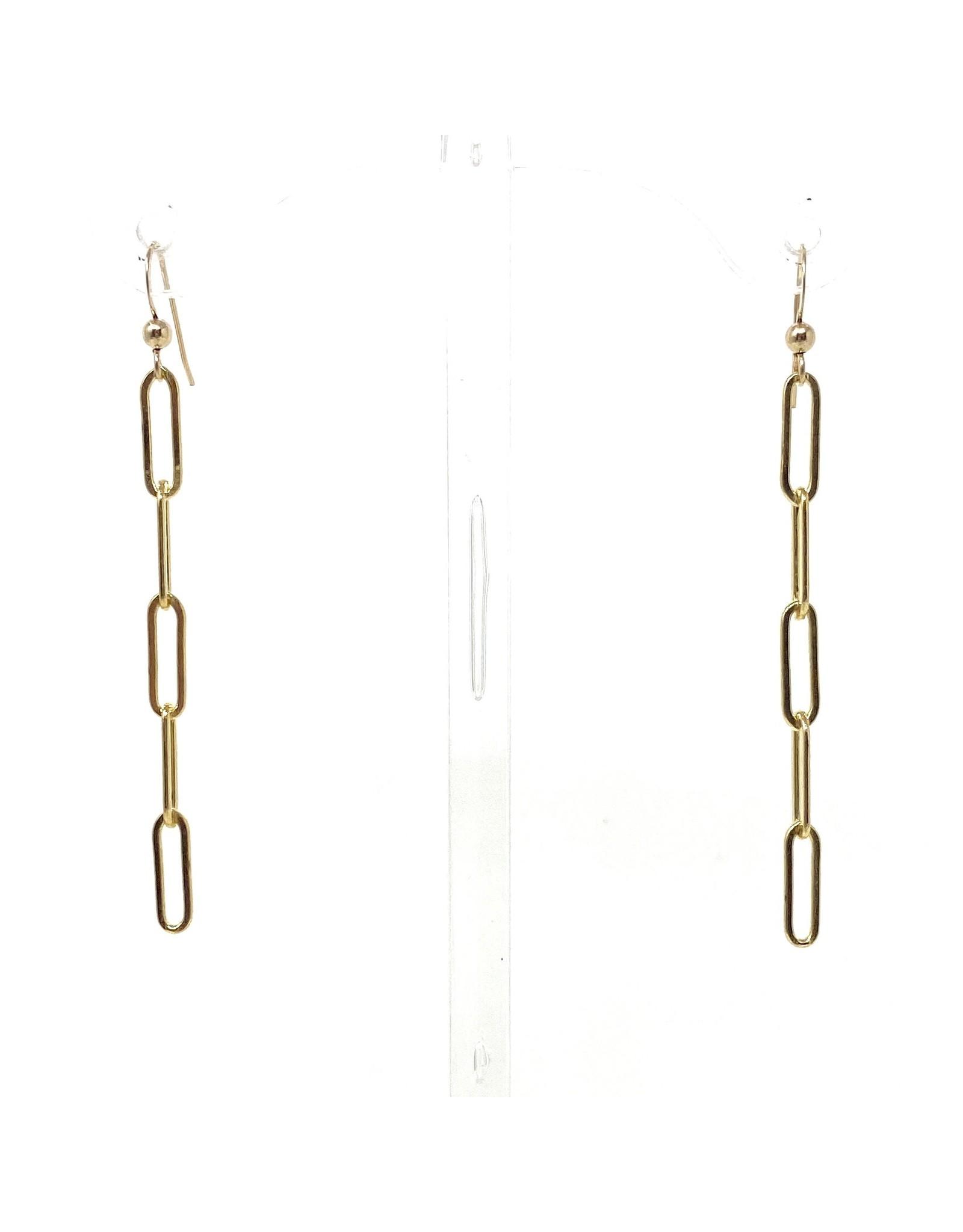 GF Paperclip Chain Hook Earrings
