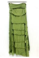 Green Flutter Maxi Skirt