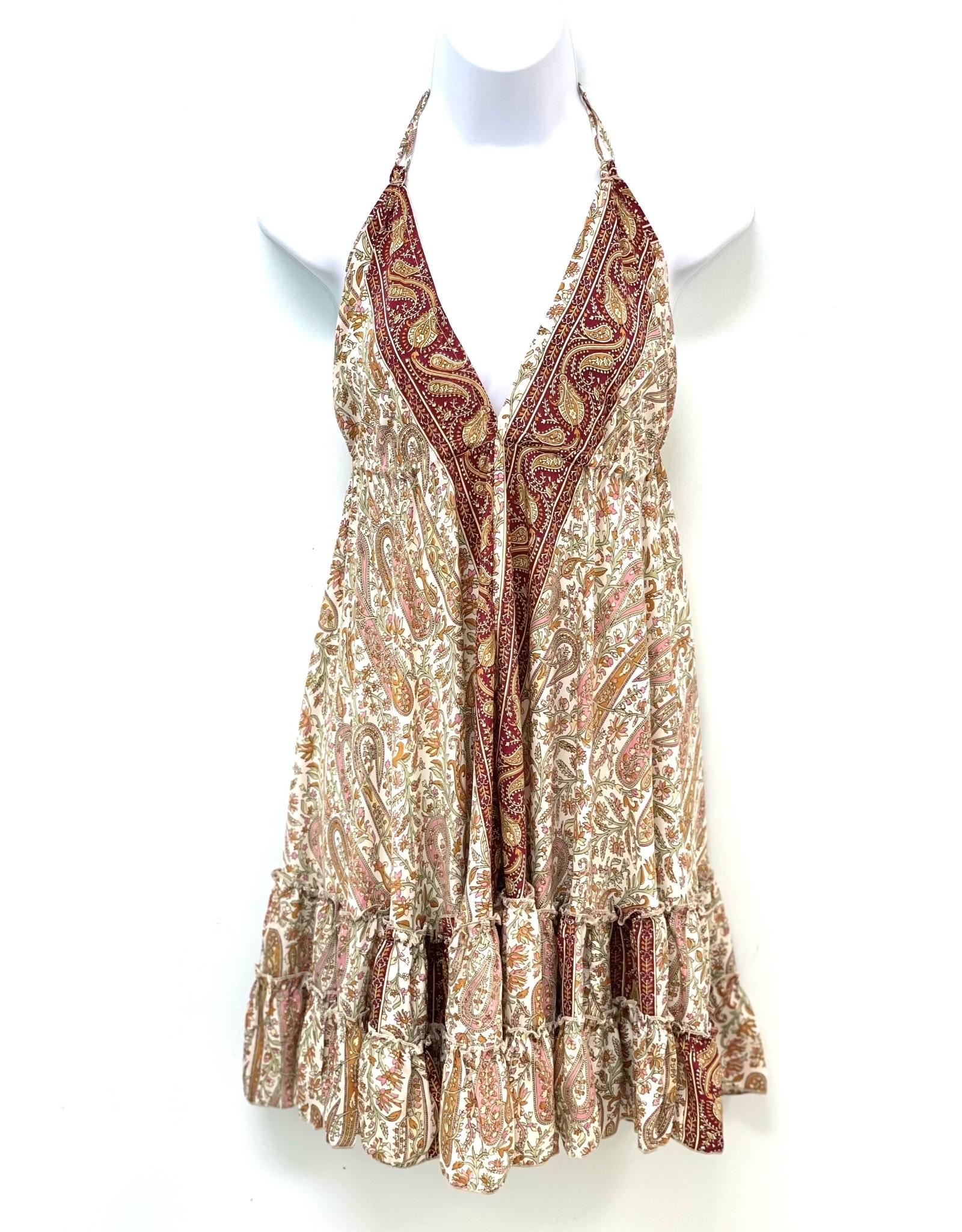 White Boheme Short Dress