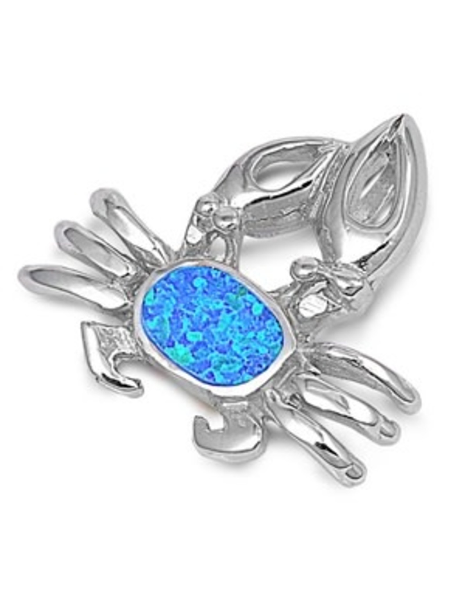 Opal Crab Pendant