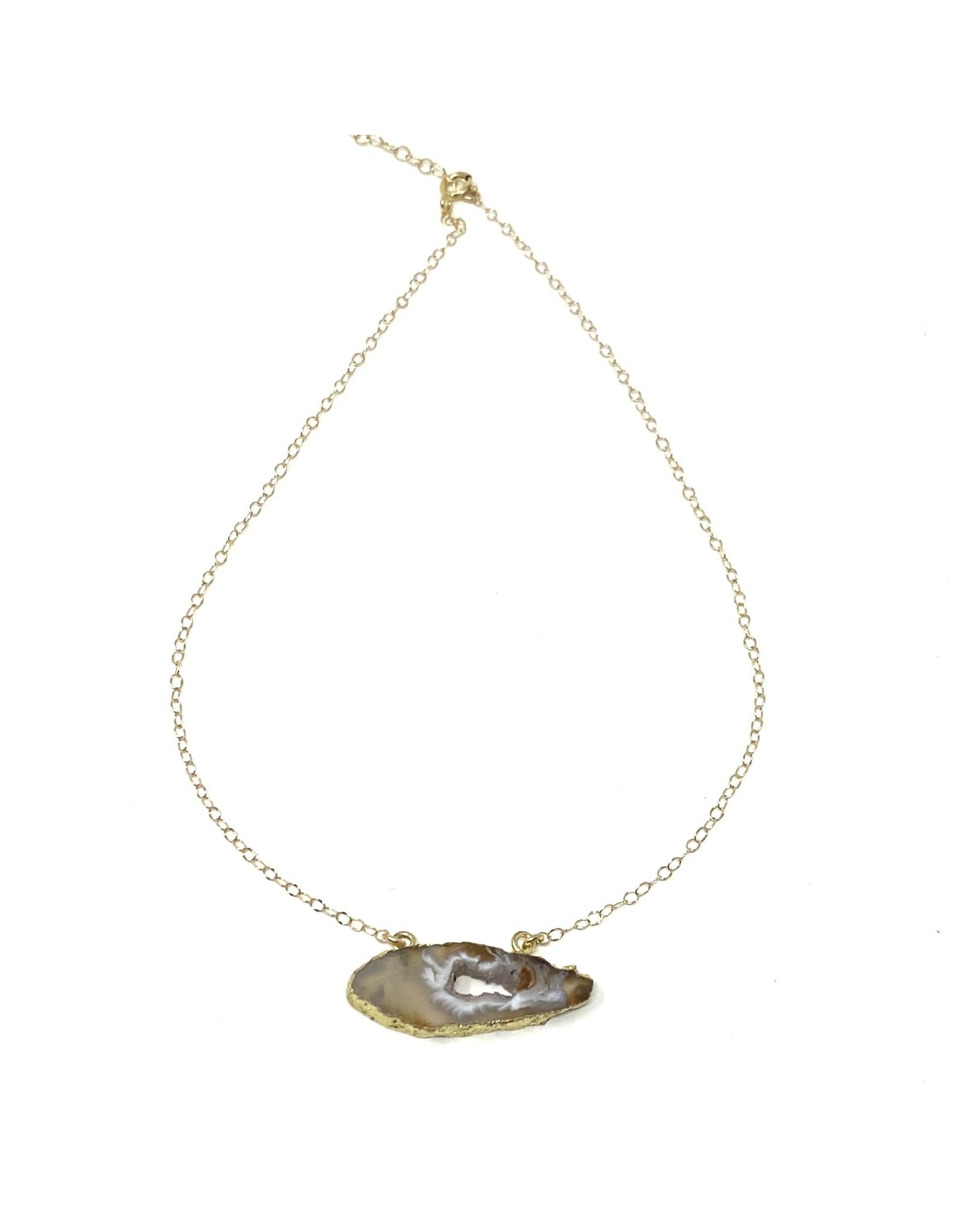 GF Druzy Pendant Necklace
