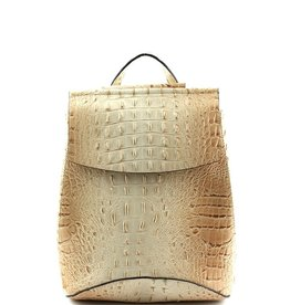 Plaza Mall Taupe Croco Conv. Backpack