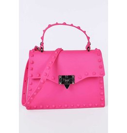 Plaza Mall Fuchsia Jelly Valentine Bag