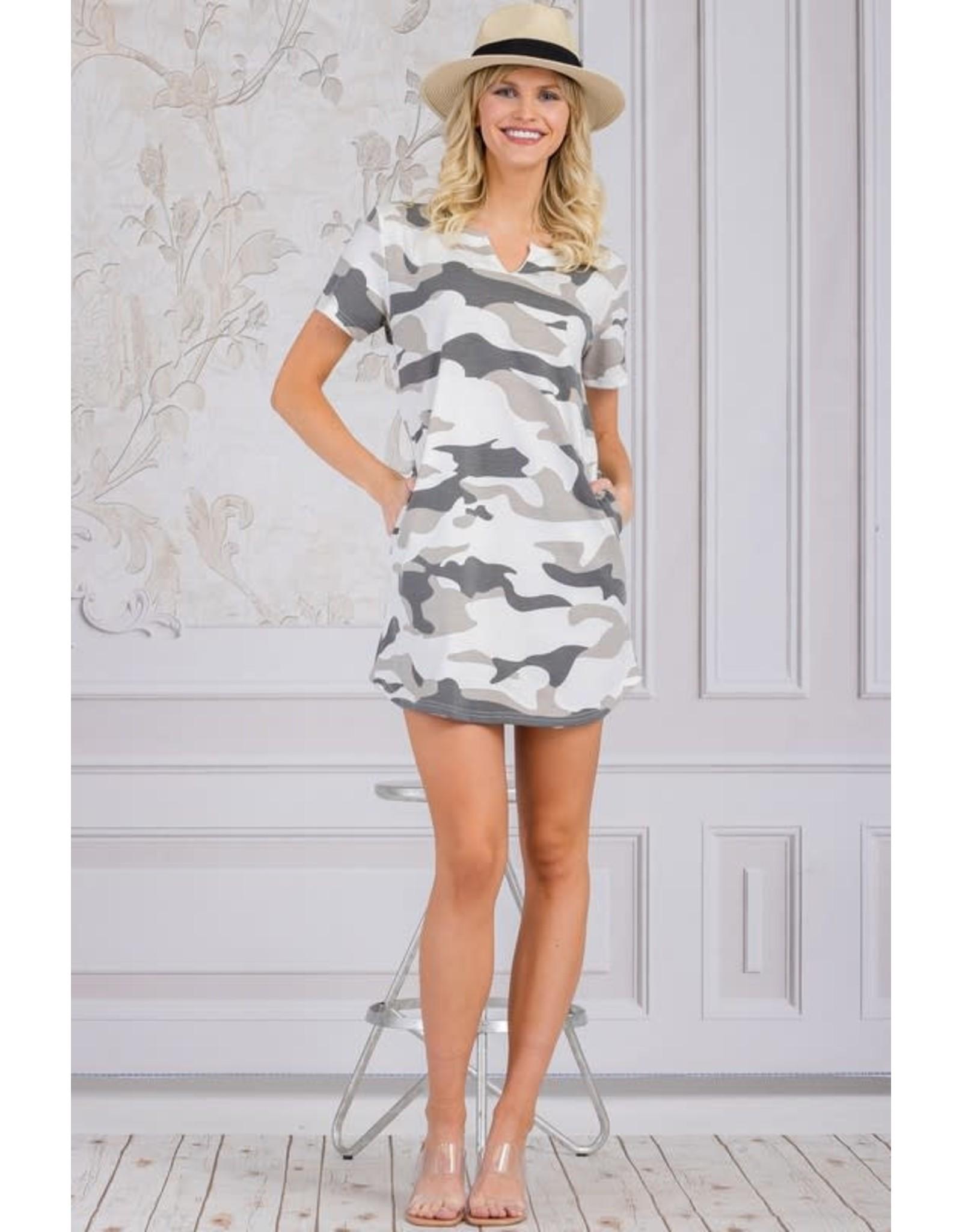 Ambition Haley Camo Dress