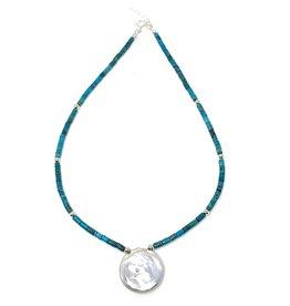 Round Keshi & Barrel Turquoise Necklace SL