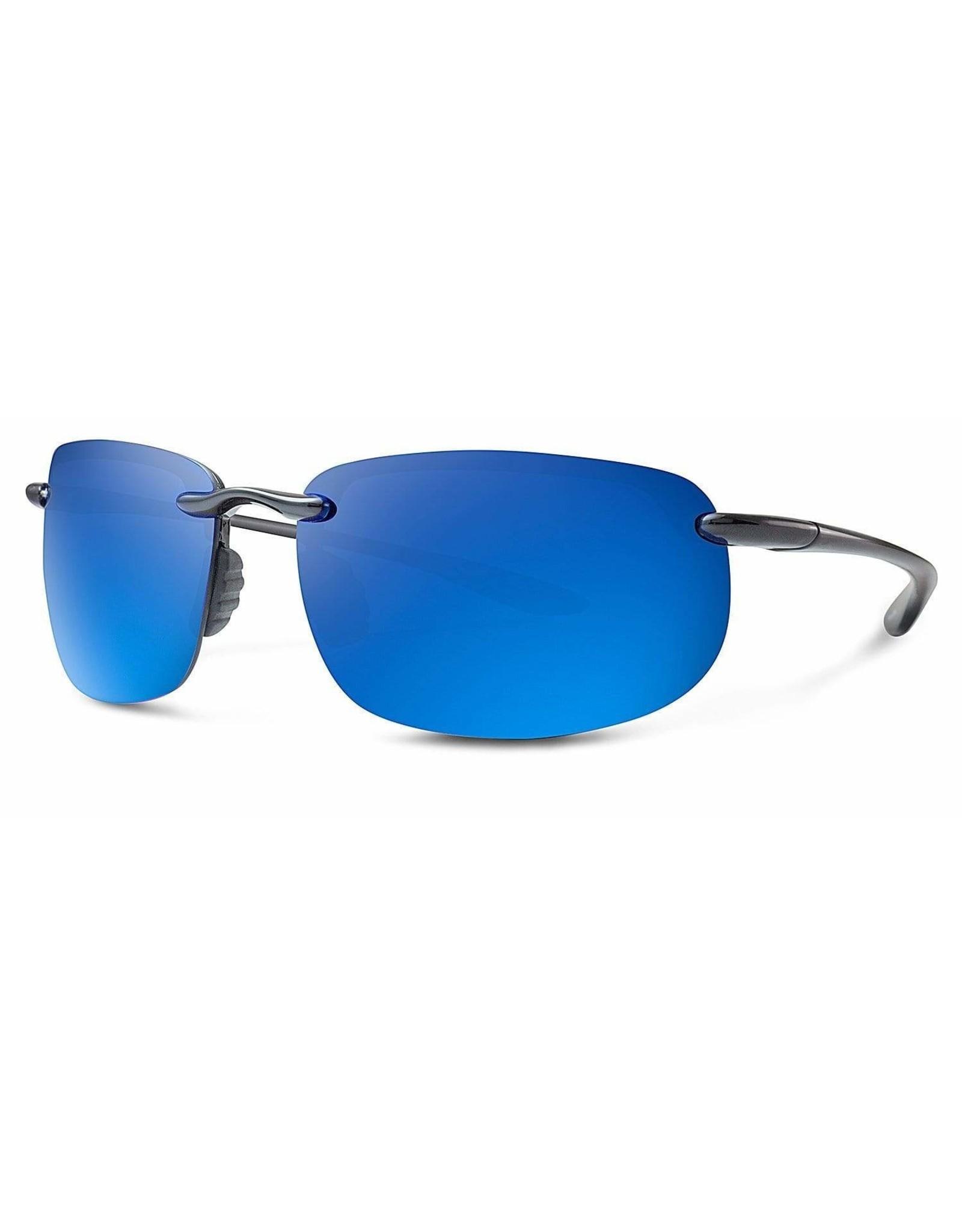 Abaco Polarized Outrigger Gloss Black/Deep Blue Mirror
