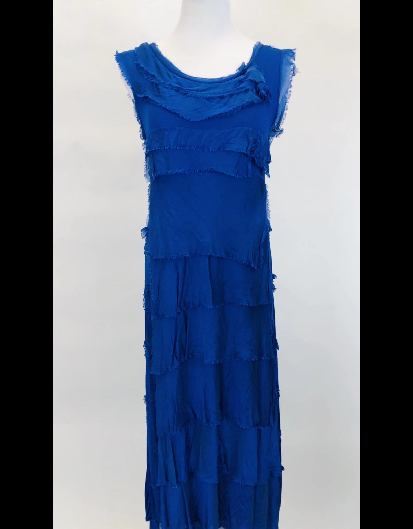 Royal Flutter Midi Dress