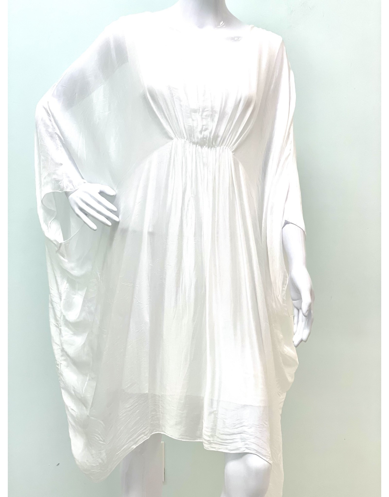 White Silk Grace Dress
