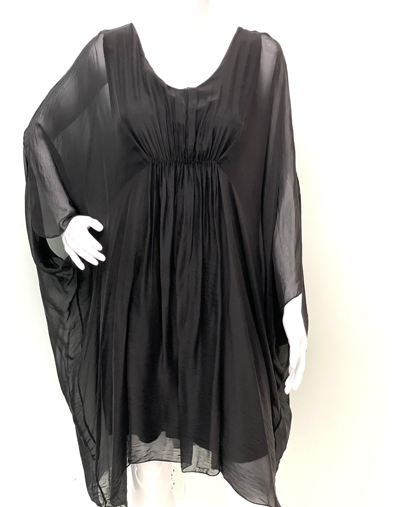 Black Silk Grace Dress
