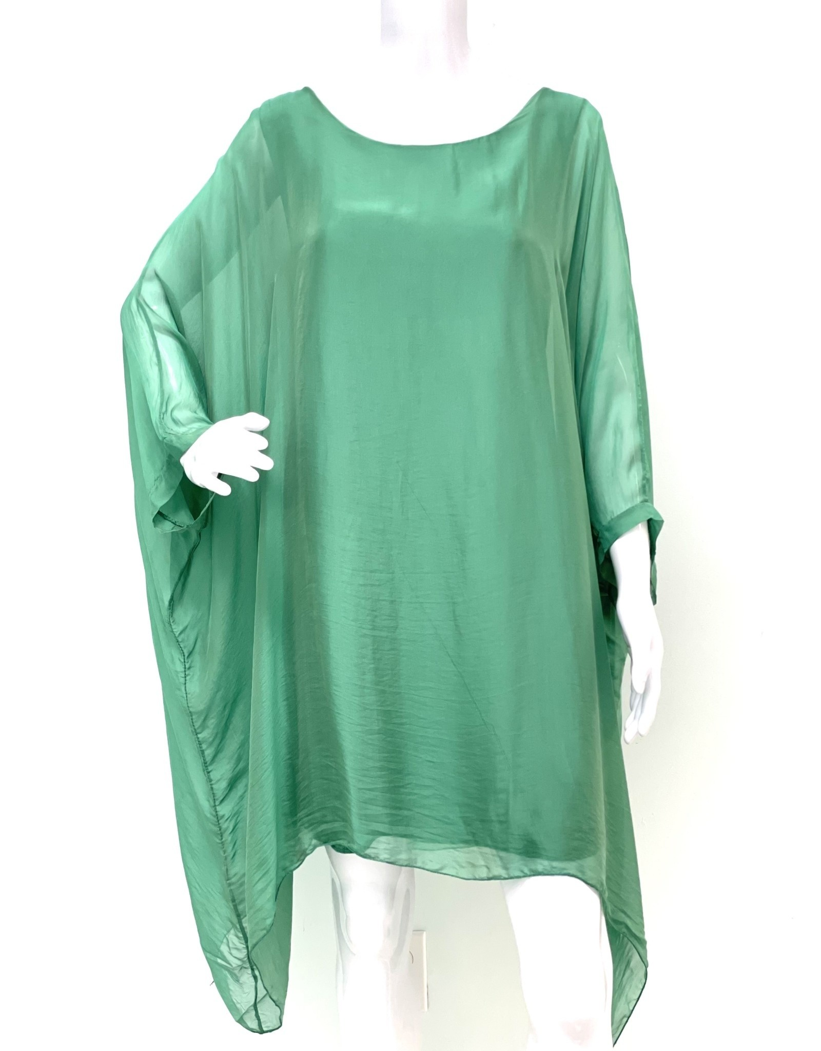 Jade Silk Sleeve Goddess Dress