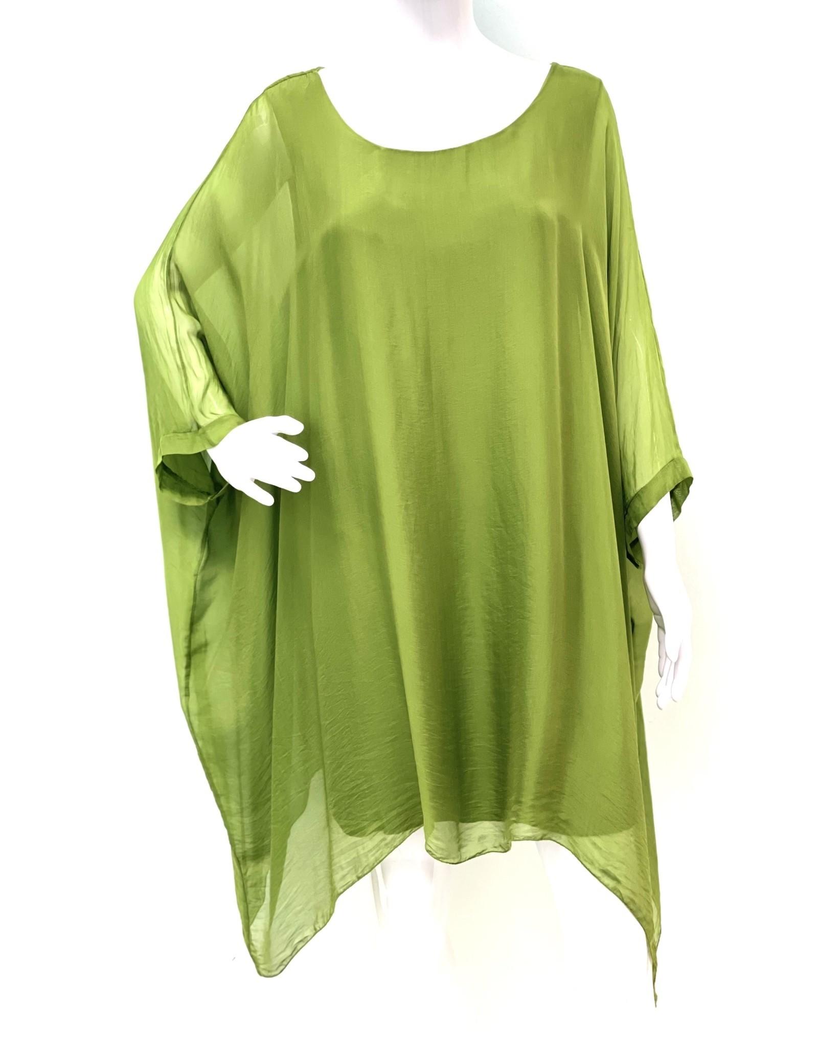 Green Silk Sleeve Goddess Dress