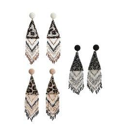 Beaded Leopard Earrings
